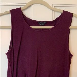 Theory maroon wool sleeveless dress size 00